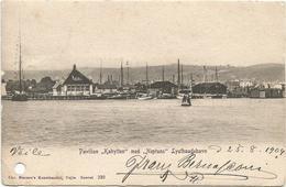 W1136 Vejle - Lystbaadehavn - Pavillon Kahytten Med Neptuns / Viaggiata 1904 - Danimarca