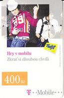 CZECH REPUBLIC - Hry V Mobilu, T Mobile Prepaid Card 400 Kc, Exp.date 20/10/10, Used - Czech Republic