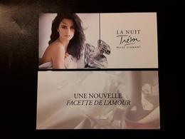 """LANCÔME ~~~  La Nuit TRÉSOR  Musc Diamant  """" Carte Glacée  N° 2 ~ Texte Différent  R/V !! - Modern (from 1961)"""