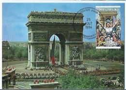 Carte Postale 1er Jour Madagasikara FDC Arc De Triomphe 1994 - Madagascar (1960-...)