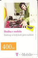 CZECH REPUBLIC - Hudba V Mobilu, T Mobile/Twist Prepaid Card 400 Kc, Exp.date 20/10/10, Used - Czech Republic