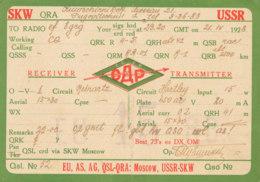 R 291 / CARTE RADIO AMATEUR -  U S S R.       S K W  MOSCOW - Radio Amateur