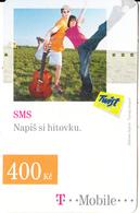CZECH REPUBLIC - Couple, SMS, T Mobile/Twist Prepaid Card 400 Kc, Exp.date 12/08/10, Used - Czech Republic