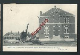 SOIGNIES. Carrière Du Nouveau Monde. Bureaux Et Chantier De Sciage. Voyagée En 1908. Rare. 2 Scans. - Soignies