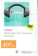 CZECH REPUBLIC - T-music, T Mobile/Twist Prepaid Card 400 Kc, Exp.date 12/08/10, Used - Czech Republic