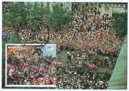 Carte Postale 1er Jour Madagasikara FDC Champs Elysée General De Gaulle De Paris 1994 - Madagascar (1960-...)