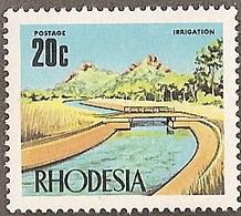 Rhodesia,  Scott 2018 # 289,  Issued 1970,  Single,  MNH,  Cat $ 1.25,   Bridge - Rhodesia (1964-1980)