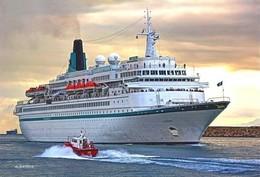 "Ship Postcards - Passenger   Ship ""  Albatros ""    Read Description - Schiffe"