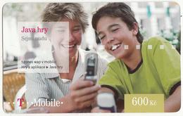 CZECH REPUBLIC - Java Hry, T Telecom Prepaid Card 600 Kc, Exp.date 03/10/11, Used - Czech Republic