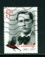 IRELAND - 2017 Francis Ledwidge 1 Euro  Used As Scan - 1949-... Republic Of Ireland