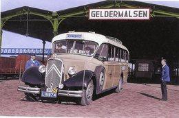 Autobus Citroen Au Départ De La Gare Geldermalsen Sur La Ligne Den Bosch (NL)  -  15x10cm PHOTO - Buses & Coaches