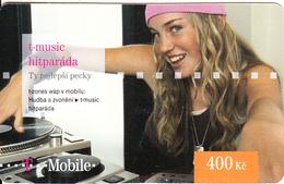 CZECH REPUBLIC - Girl, T-music, T Mobile Prepaid Card 400 Kc, Exp.date 06/09/12, Used - Czech Republic