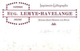 Stockay - Saint Georges Sur Meuse - Eug. Lemye-Havelange (Editeur De Cartes Postales 1915) - Saint-Georges-sur-Meuse