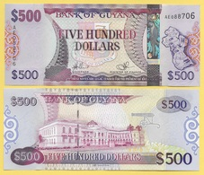 Guyana 500 Dollars P-37(1) 2011 UNC - Guyana