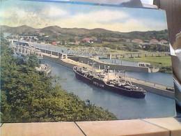 PANAMA - MIRAFLORES LOCKS NAVE SHIP CARGO YKE'S LINE Pentothal Sodium  VB1957 ROSSA  HA7909 - Panama