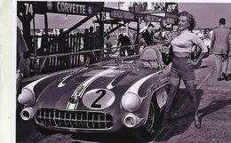Marilyn Monroe Posing With Chevrolet Corvette SR2 At Sebring 1957 -  15x10 PHOTO - Voitures De Tourisme