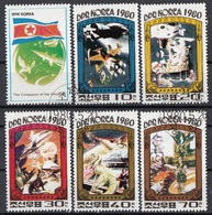 DPR Korea 1980 Sc. 1949/1953 Conquerors Of The Universe Cinema Spazio Full Set 5 Val. + Label   CTO Corea - Cinema