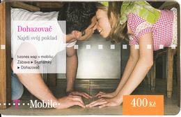 CZECH REPUBLIC - Couple, Dohazovac, T Mobile Prepaid Card 400 Kc, Exp.date 06/09/12, Used - Czech Republic