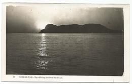 W1147 Gibraltar - Sun Rising Behind The Rock / Non Viaggiata - Gibilterra