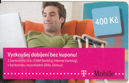 CZECH REPUBLIC - Vyzkousej Dobijeni Bez Kuponu, T Telecom Prepaid Card 400 Kc, Exp.date 14/12/14, Used - Czech Republic