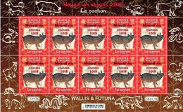 Wallis & Futuna 2019 - Nouvel An Chinois, Année Du Cochon - Feuillet Neuf // Mnh - Wallis And Futuna
