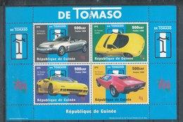 N° 1351/1354 - Y&T - Automobiles De Tomaso - Guinée (1958-...)
