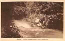 Soulme - Vallée De L'Hermeton. Ancienne Chute Du Moulin Marée (animée, Pêche, Chien) - Doische