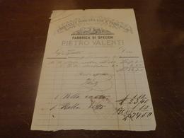 FATTURA PIETRO VALENTI FRABBRICA DI SPECCHI CRISTALLI PORCELLANE E TERRAGLIE-PALERMO QUATTRO CANTI VIA MAQUEDA-1883 - Italia