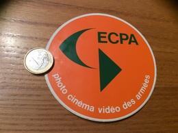 AUTOCOLLANT, Sticker (vert Orange) «ECPA - Photo Cinéma Vidéo Des Armées» (militaire) - Stickers