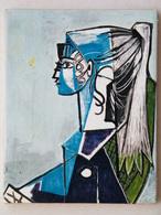 Pablo PICASSO Portrait De Sylvette DAVID 1954 - Toile Repro De 1955 Par Editions Braun - Altre Collezioni