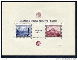CZECHOSLOVAKIA 1937 Bratislava Stamp Exhibition Block MNH / **  Michel Block 1 - Blocks & Sheetlets
