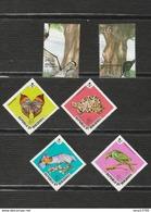 Maldives Lot 6 Timbres - 2 Canards 4 Timbres Papillons Tortue Chauve Souris Oiseau Mi MV 463 à 466 (neufs) - 2303 2301 - Malediven (1965-...)