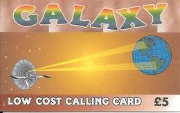 - CARTES-+PREPAYEE-GB-5£-GALAXY-1999-Plastic Fin--TBE-RARE - Royaume-Uni