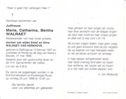 Maria Catharina Bertha Walraet (1907-1996) - Images Religieuses