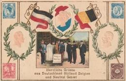Herzliche Grüsse Aus Deutschland Holland Belgien Und Neutral Gebiet - Plombières