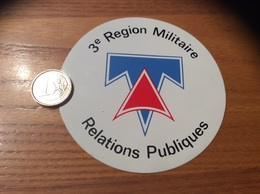 AUTOCOLLANT, Sticker «3e Region Militaire - Relations Publiques» (armée De Terre) - Autocollants