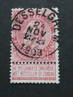 COB N ° 58 Oblitération Desselghem 1903 - 1893-1900 Fine Barbe