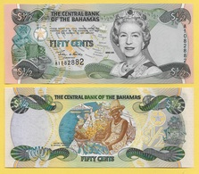 Bahamas 1/2 (half) Dollar / 50 Cents P-68 2001 UNC - Bahamas