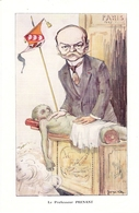 Professeur Prenant  Né à Lyon   Biographie Avec Photo Et Caricature Villa 1913 - Vieux Papiers