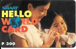 CARTE+-PREPAYEE-PHILIPPINES-300U-PLDT-SMART HELLO WORLD CARD-Exp 1998-Plastic Epais-TBE - Philippines