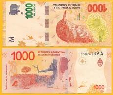 Argentina 1000 Pesos P-366 2017 (Series  A) UNC - Argentine