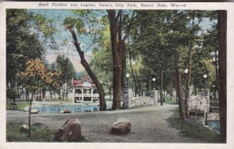 Wisconsin Beaver Dam Swan's City Park Band Pavilion And Lagoon 1929 - United States