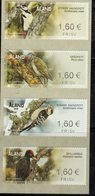 ALAND, 2019, MNH, BIRDS, WOODPECKERS, 4 ATM LABELS, - Birds