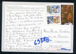 Chile - Rapa Nui - Isla De Pascua - Posted  3 Stamps - The Hanau Eepe -Easter Island - Cile