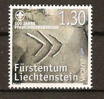 """LIECHTENSTEIN  -EUROPA  2007-"""" A CENTENARY SCOUT -EUROPA-CEPT""""- SERIE De 1 V. - Europa-CEPT"""
