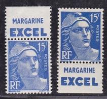 PUBLICITE MARIANNE DE GANDON 15F BLEU EXCEL ACCP1148* ET 1150** COTE ACCP 24E - Advertising