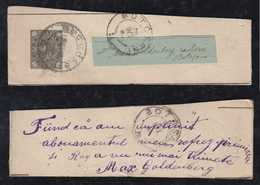 Rumänien Romania 1893 Stationery Wrapper Returned To Sender BUCURESTI BOTOSANI - Interi Postali