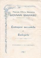 ** GIOVANNI BARNABO'.-CONEGLIANO.-(VENETO).-OFFICINS MECCANICA.-** - Italia