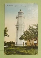 1935 Bermudes Bermuda To USA St David Lighthouse Phares  Phare Travelled Cancelled Stamped CP Voyagé Timbré Et Oblitéré - Bermudes