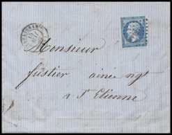 7364 LAC 1862 N°14B Napoleon 20c TB Pc 3323 Taulignan Drome Petit Bord De Feuille St Etienne Loire France Lettre Cover - 1849-1876: Période Classique